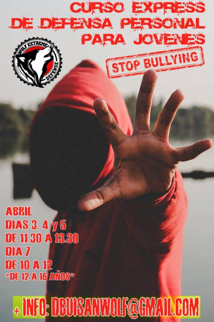 Defensa personal contra bullying para jóvenes, en Zaragoza.