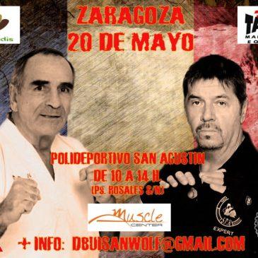 DOMINIQUE VALERA Y JACQUES LEVINET EN ZARAGOZA (20 de mayo de 2018)